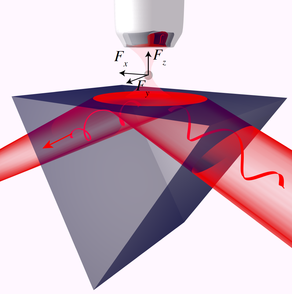 Three-Dimensional Measurement of the Helicity-Dependent Forces on a Mie Particle