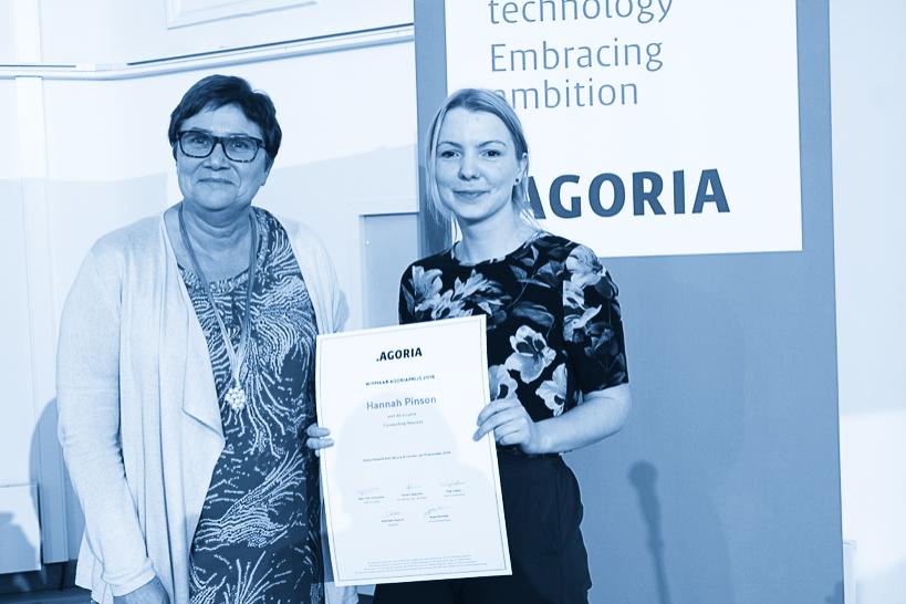 Agoria Award for Hannah Pinson